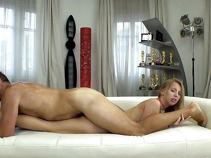 Director sweats fucking Russian chick's asshole before tint
