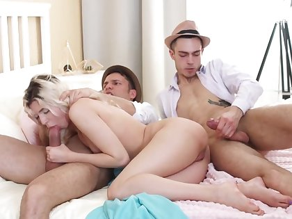 Cornelia gets laid with two guys and loves it