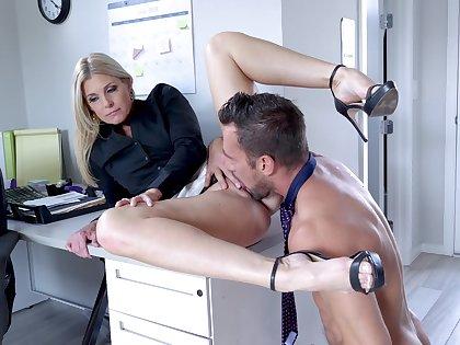 Womanlike boss calls in the avant-garde bloke for a bit of sex