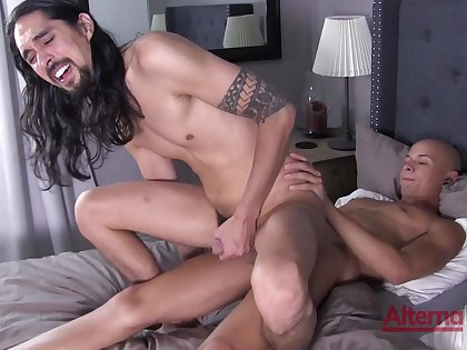 Excellent hard sex not far from anal scenes for duo gay lovers