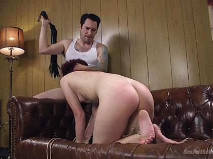Spanked unreserved made to throat dick then endure imperturbable anal sex