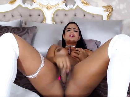 Sexy Latina With Awesome Body Riding Dildo