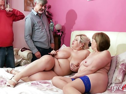 Perverted cougar Gina George has invited mature slut be proper of bad MFF