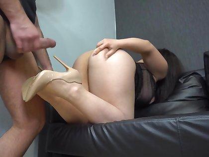 Hairy ass licking and high heels cum M Jaily 4k