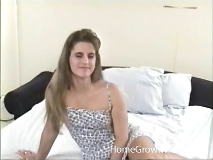 Blonde wife almost small tits loves licking balls be proper of her husband