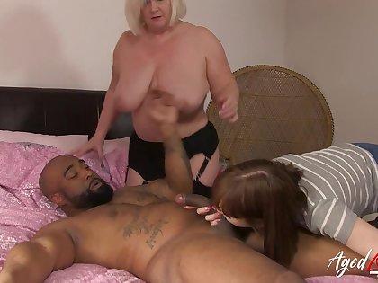 AgedLovE Hardcore Matured Interracial Threesome