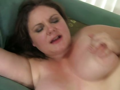 Usurp obese whore jams boobies as her hairy pussy is fucked hard
