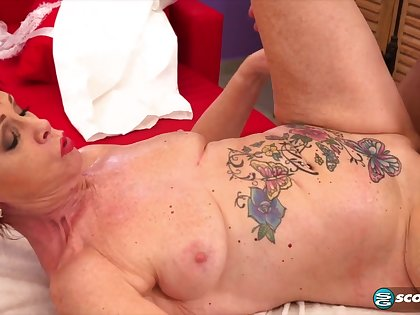 inked granny Caroline Hamsel hot rub-down sex