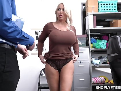 Guilty alluring busty blonde MILF Alura Jenson rides strong cock