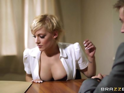 Kinky blonde wife loves dressing up as a fake cop for sex