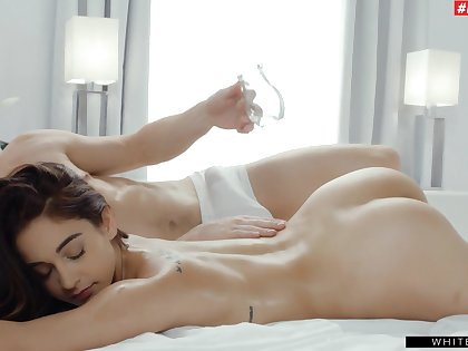 Close by make Ginebra Bellucci happy you take a crack at Close by fuck both of her holes