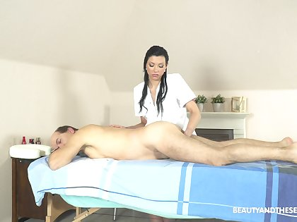 Oral 69 and hard sex at near massage with a senior man painless will not hear of customer