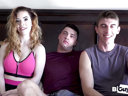 Joel Together with Nala Cum Swap Collin's Huge Load Thwart A Hot Fuck