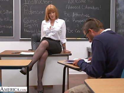 Prof. Sara Jay gives pupil will not hear of big ass!